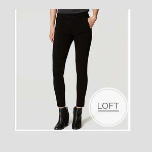 LOFT Black Knit Zip Pocket Skinny Pants Size: 12